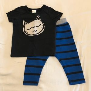 Hanna Andersson Kitty play outfit 80 cm